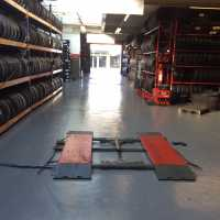 racks of tyres at Tyresavers